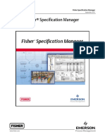 Quick Start Guide - Fisher Specification Manager