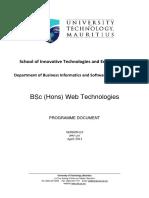 BSc (Hons) Web Technologies