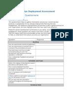 Assessment - Pre-Engagement Questionnaire