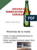Proceso de fabricación Cerveza