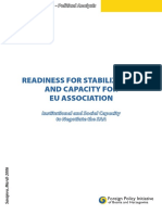 Readiness for stabilization and capacity for EU association