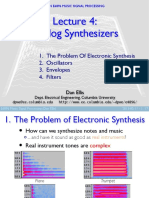 Notes - Analog Synthesizers