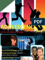 Growth & Development - ADOLESCENCE