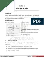 Modul 10 Geometrik Jalan Rel Jalan Rel