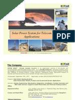 Solar Power System for Telecom Applications