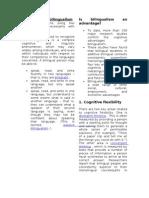 Definitions of Bilingualism