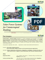 Solar Power System for Banking Applications 27 Aug 09