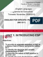 BBI3211_Unit 1 Intro 15 Nov 2009