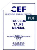 Tool Box Talk Manual