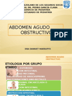 OBSTRUCTIVO CIRUGIA PEDIATRICA