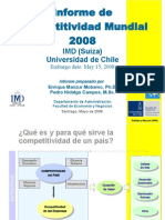 Informe de Competitividad Mundial 2008 IMD (Suiza)