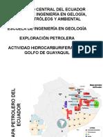 Actividad Hidrocarburifera en El Golfo de Guayaquil