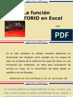Tutorial La Función Aleatorio en Excel2016