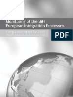 "Comparative report for 2011. within the project ""Monitoring the process of European integration"""