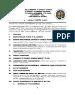 Lansing (MI) City Council info packet for April 19, 2010