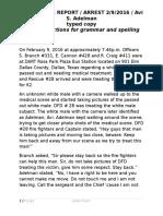 DART Arrest Narrative - Typed