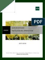 Psicología Del Aprendizaje 2015-2016 - Guía de Estudio Parte 2 (1)
