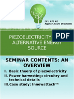 SEMINAR-Piezoelectricity as an Alternate Energy Source
