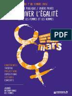Programme des manifestations de la journée internationale de la femme de Rennes
