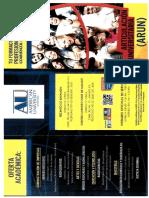 Articulacion Universitaria American University 2016