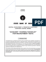 SBI Acquaint Yourself Booklet English