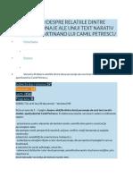 Varianta 40 Despre Relatiile Dintre Doua Personaje Ale Unui Text Narativ Studiat