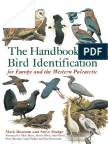 Steve Madge the Handbook of Bird Identification for Europe and the Western Palearctic