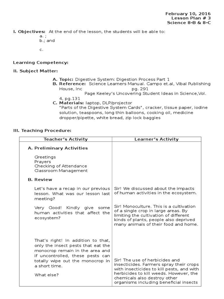 Lovely Lesson Plan Template Science Photos - Entry Level Resume ...