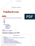 Contract Labour Act, 1970