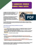 Huesos carnosos crudos para gatos