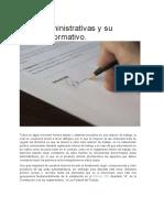Actas Administrativas y Su Entorno Normativo