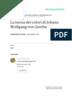 Johann Wolfgang Von Goethe - La Teoria Dei Colori