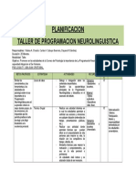PLANIFICACION TALLER PROGRAMACION NEUROLINGUISTICA..docx
