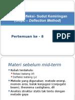 Metode Defleksi- Sudut Kemiringan (Slope- Deflection)