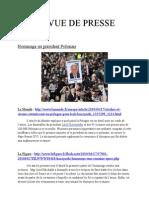 Revue de presse de première  du  12 au 17 avril