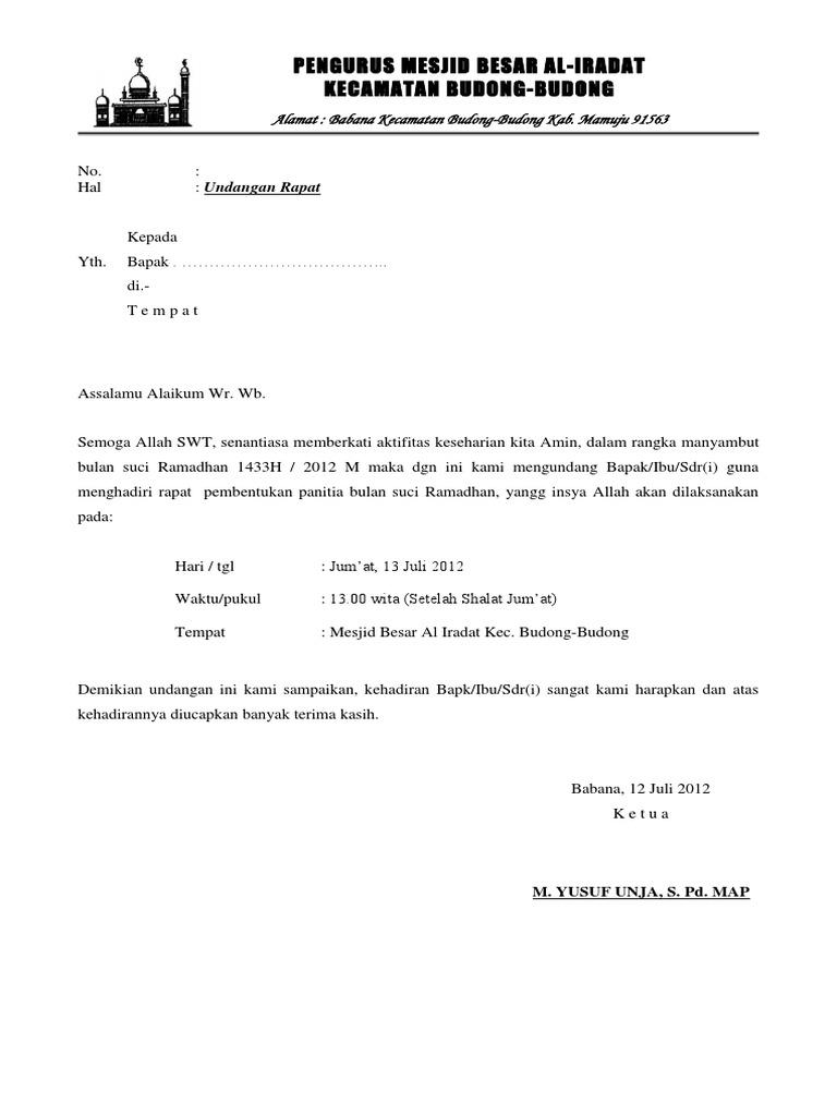 47+ Undangan rapat panitia ramadhan information