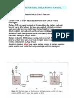 reaktor-reaktor ideal untuk reaksi tunggal