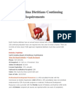 North Carolina Dietitians Continuing Education Requirements