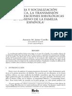 Familia y socialización política española