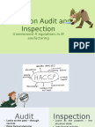 HACCP on Audit and Inspection