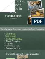 Chemical and Heat Treatment on Food Preservation
