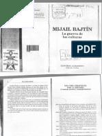 Elsa Drucaroft Mijael Bajtin la guerra de las culturas