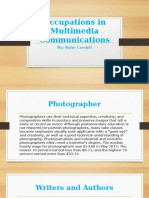 occupations in multimedia communications kylie cordell