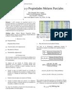 Mezcla Binaria y Propiedad Parcial Molar