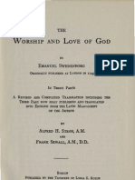 Em Swedenborg the Worship and Love of God 1745 John Clowes 1816 Thomas Murray Gorman 1885 Alfred H Stroh Frank Sewall 1904 Massachusetts New Church Union 1956