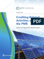 Crediting-Related Activities Under the PMR