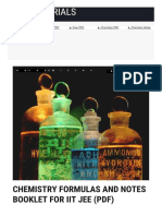 Chemistry Formulas and Notes Booklet for Iit Jee p