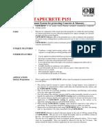 TAPECRETE Chemical Coating Treatment Methodolgy