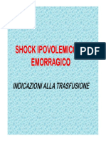 Shock Ipovolemico Ed Emorragico