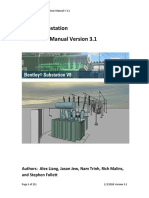 Bentley Substation Instruction Manual v 3.1